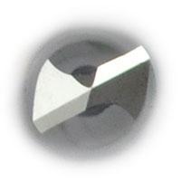 VHM Micro Bohrer ohne Innenkühlung Stirnansicht